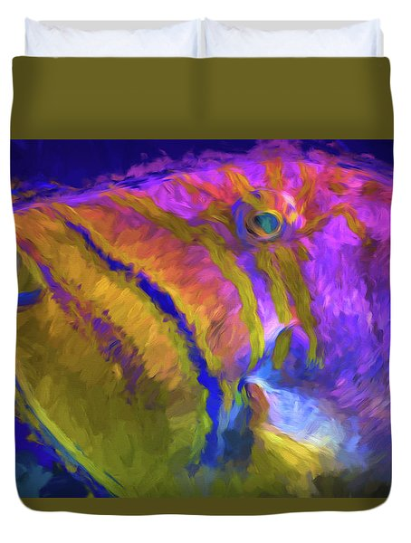 Duvet Cover featuring the photograph Fish Paint Dory Nemo by David Haskett