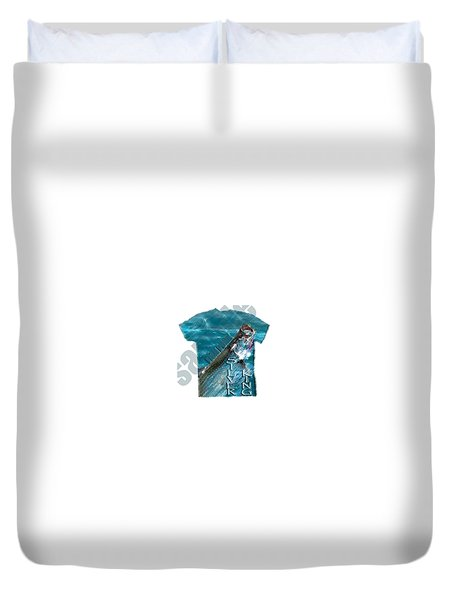 Fish Punk Tarpon Design Duvet Cover