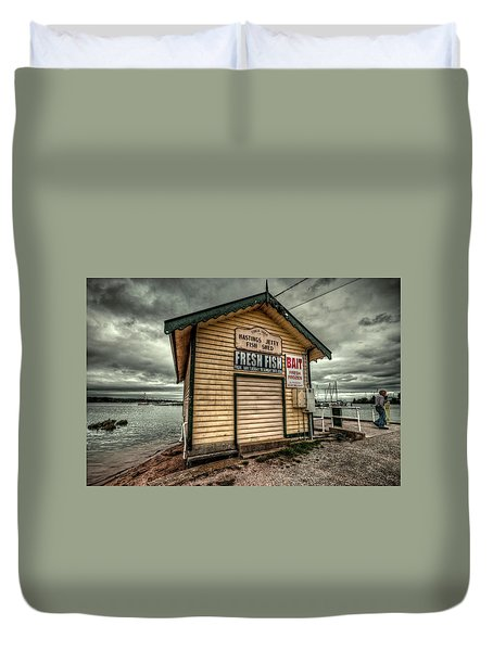Fish Shed Duvet Cover by Wayne Sherriff