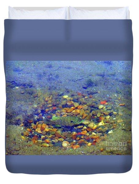 Fish Spawning Duvet Cover