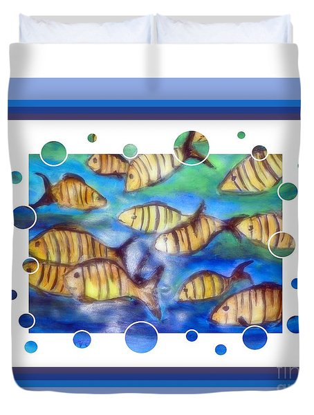 Fishbowl 2 Duvet Cover