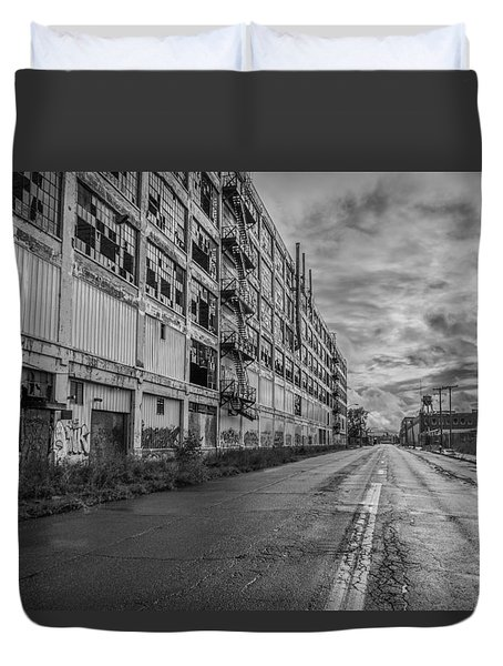 Fisher Body In Black And White  Duvet Cover