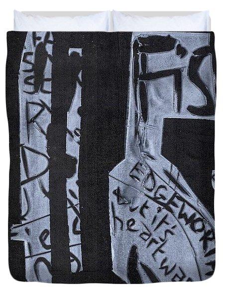 Fisher Covers White On Black Duvet Cover