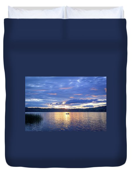 Fisherman Heading Home Duvet Cover