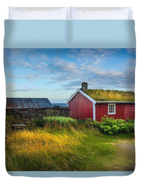 Fisherman House Duvet Cover by Maciej Markiewicz