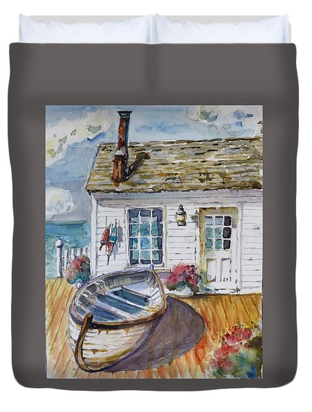Fisherman's Cottage Duvet Cover by P Maure Bausch