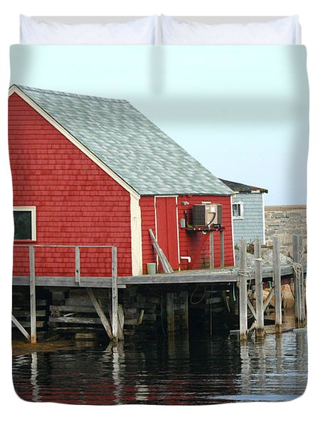 Fishermans House On Peggys Cove Duvet Cover