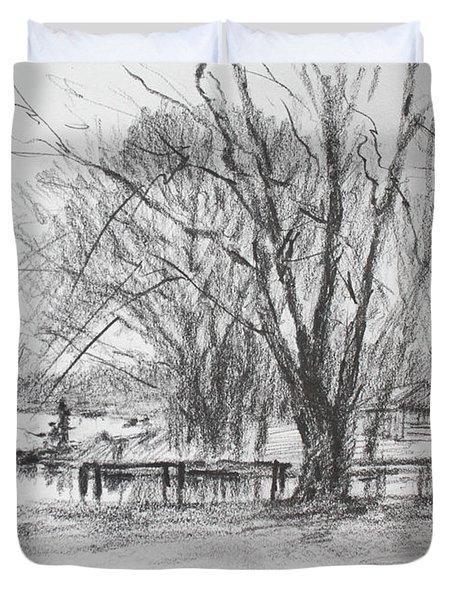 Fisherman's Park Duvet Cover
