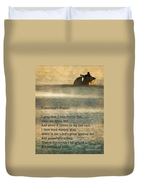 Fisherman's Prayer Duvet Cover