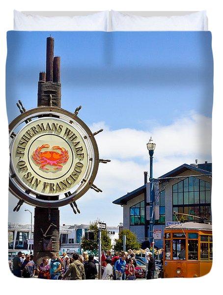 Fishermans Wharf - San Francisco Duvet Cover