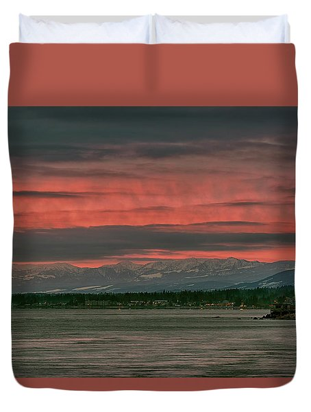 Duvet Cover featuring the photograph Fishermans Wharf Sunrise by Randy Hall