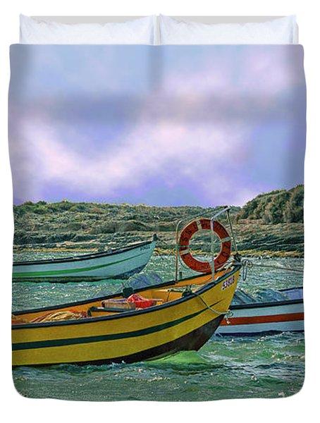 Fishermen's Wharf Duvet Cover