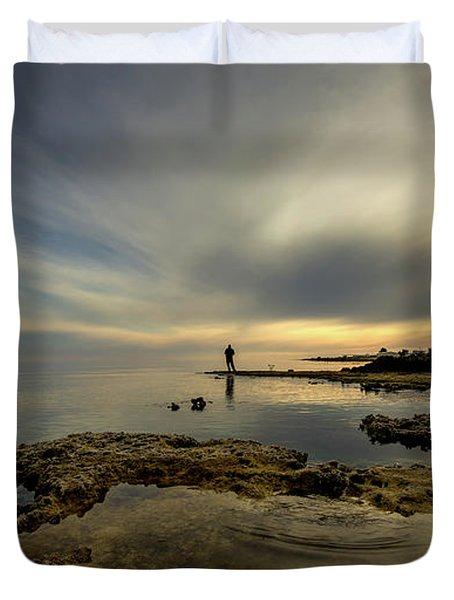 Fisherman's Zen  Duvet Cover