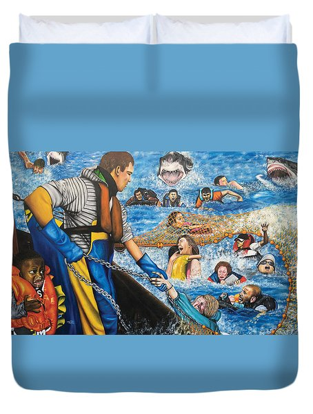 Fishers Of Men Duvet Cover