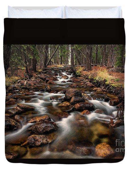 Fishhook Creek Waterscape Art By Kaylyn Franks Duvet Cover