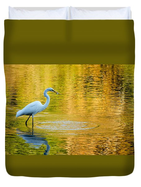 Fishing 2 Duvet Cover