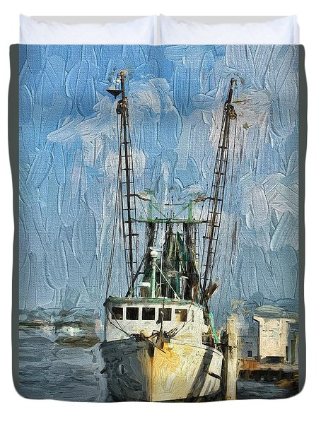 Fishing Anyone Duvet Cover by Deborah Benoit