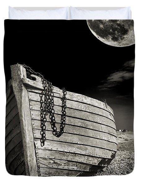 Fishing Boat Graveyard 3 Duvet Cover by Meirion Matthias