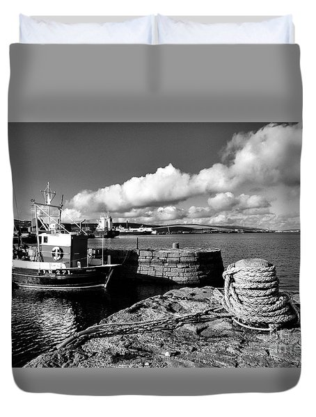 Fishing Boat Lerwick Shetland Duvet Cover