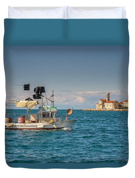 Fishing Boat Duvet Cover