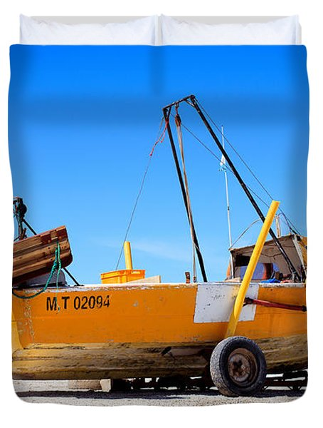Duvet Cover featuring the photograph Fishing Boat by Silvia Bruno