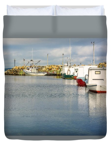 Fishing Boats At Feltzen South Duvet Cover