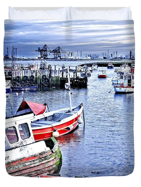 Fishing Boats At 'paddy's Hole' Duvet Cover