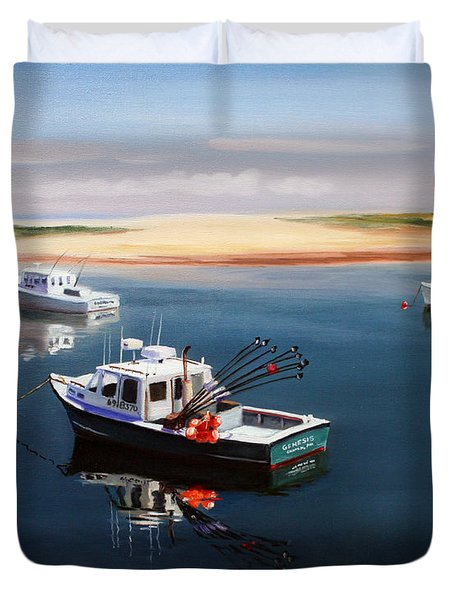 Fishing Boats-cape Cod Duvet Cover by Paul Walsh
