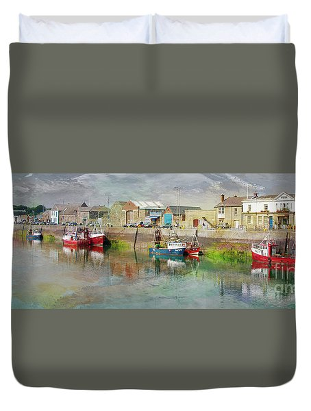 Fishing Boats In Ireland Duvet Cover