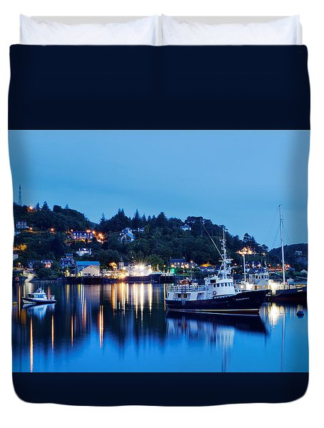 Fishing Boats Of Orban Duvet Cover