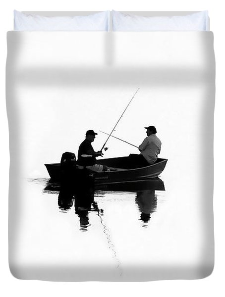 Fishing Buddies Duvet Cover by David Lee Thompson