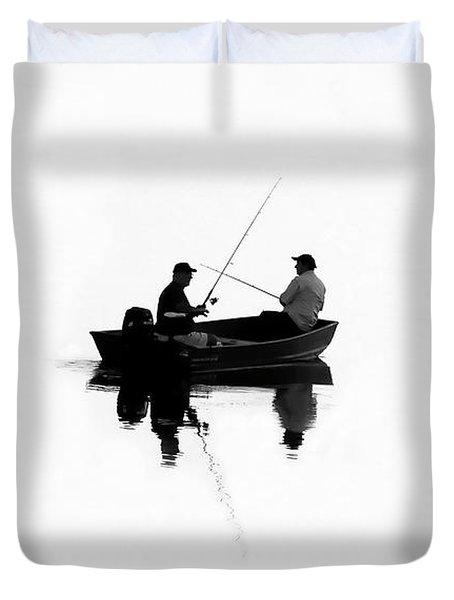 Fishing Buddies Duvet Cover by David Lee Thompson