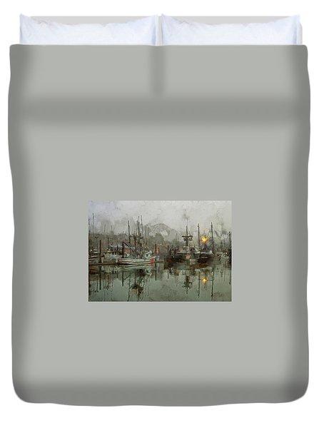 Fishing Fleet Dock Five Duvet Cover
