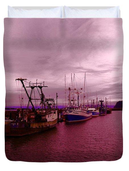 Fishing Fleet Duvet Cover
