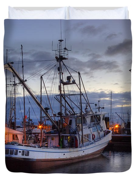 Fishing Fleet Duvet Cover