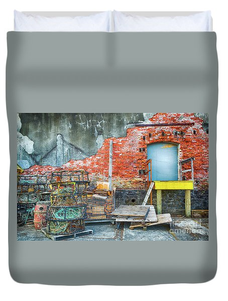 Fishing Gear Duvet Cover