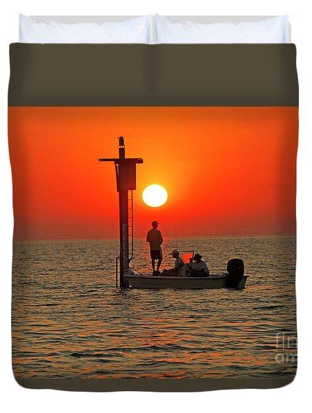 Fishing In Lacombe Louisiana Duvet Cover