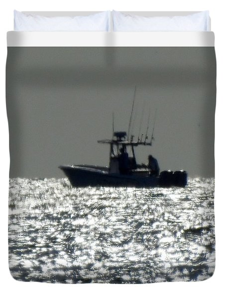 Fishing In Sanibel Duvet Cover