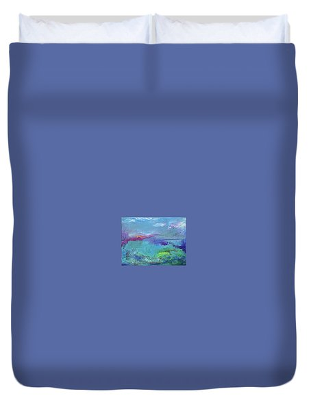 Fishing In Sorrento Duvet Cover