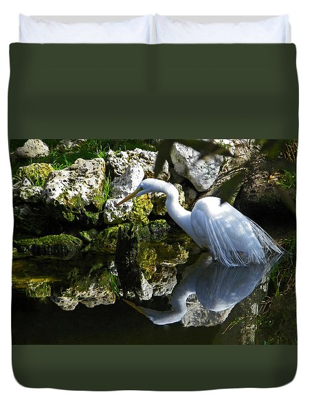 Fishing In The Creek  Color Duvet Cover