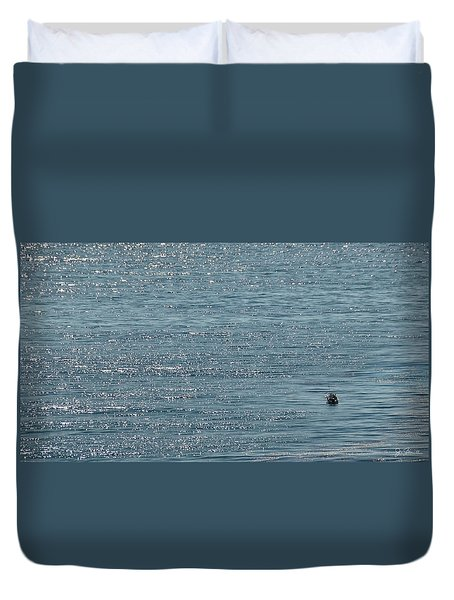 Duvet Cover featuring the photograph Fishing In The Ocean Off Palos Verdes by Joe Bonita