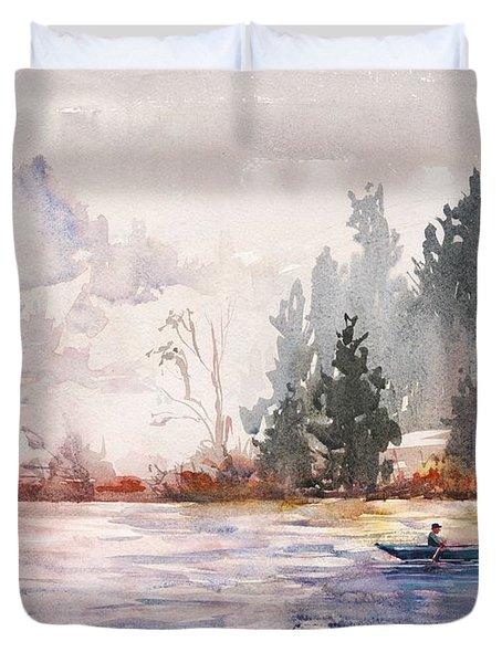 Fishing Duvet Cover