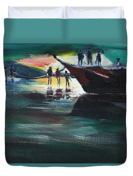 Fishing Line Duvet Cover