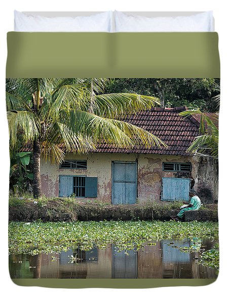 Fishing Duvet Cover