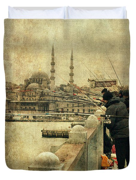 Fishing On The Bosphorus Duvet Cover