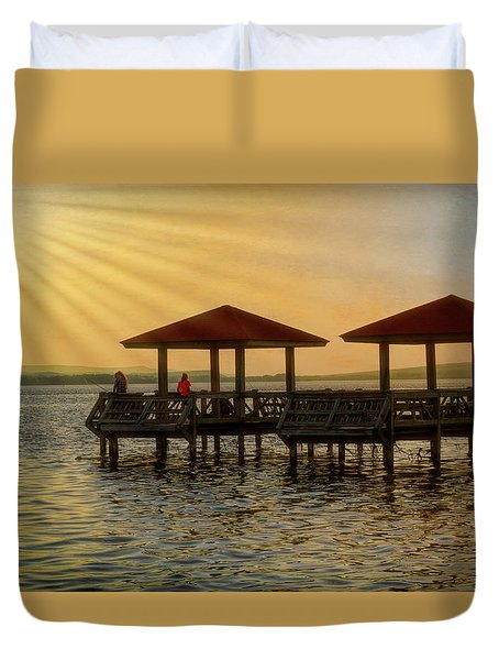 Fishing Pier Duvet Cover