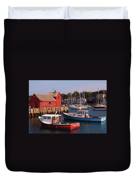 Fishing Shack Duvet Cover