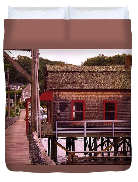 Fishing Shack Duvet Cover by John Wartman