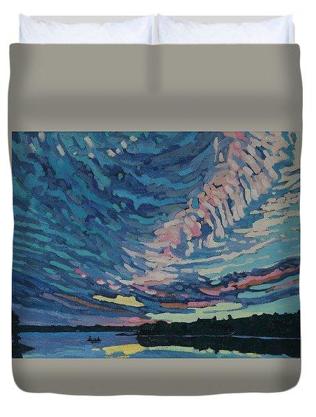 Fishing Sunset Duvet Cover