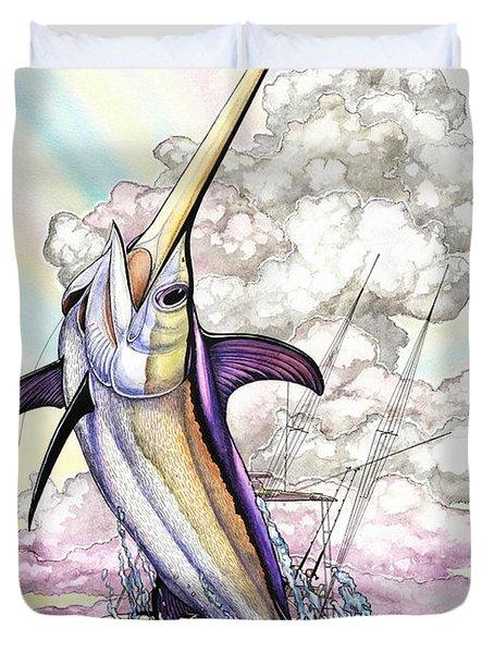 Fishing Swordfish Duvet Cover